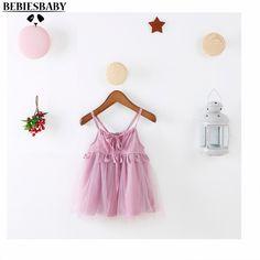 INS Wedding Summer Dress Purple Princess Baby Girls Dresses Lolita Style Short Kids Dress Long Dress Suit 1-4Years Infant Kids (7)