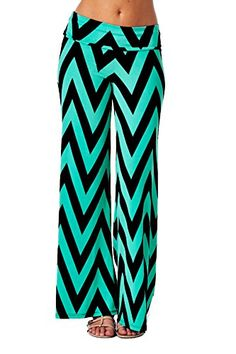 Women's Aztec Chevron Tribal Print High Waist Wide Leg Long Palazzo Pants Jubilee Couture http://www.amazon.com/dp/B00L85VCFS/ref=cm_sw_r_pi_dp_X0cWtb0V0ZYVHY1F