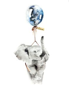 Elephant and Far, Far away Balloon
