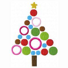 Embroidery Machine Applique Design - Whimsy Polka Dot Christmas Tree - 3 Sizes - Christmas Applique Design Embroidery. $2.99, via Etsy.