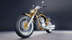 Harley Davidson Motorcycle free 3D Model by milospreuten