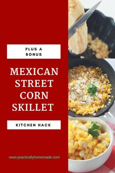 Mexican Street Corn Skillet is all of the flavors you would expect cooked together over the stove top. Plus a great hack for cutting corn from the cob. Appetizer Recipes, Dinner Recipes, Drink Recipes, Appetizers, Fresco Cheese, Corn Recipes, Mexican Recipes, Vegetable Recipes, Mexican Street Corn
