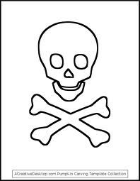 template for pirate hat or flag