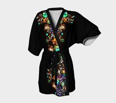 Bohemian Evening Kimono by AtelierBaba  Perfect for lounging - choose between the softness of our silky knit, or style it up with our transparent peek-a-boo chiffon fabric. Lovely.