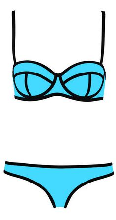 1b2e7890beefb Swingy bikini featuring black ribbons with delicate texture