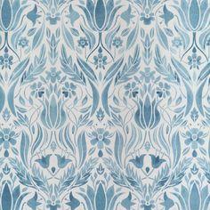 Blomstermala Flowers /& Leaves Charcoal Grey Galerie Wallpaper 51018