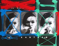 William Klein, Smoke + Veil x 3, Paris (Vogue), 1958 (painted 2004)