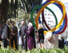 Inauguramos en Recoleta la escultura Energía Olímpica durante un acto que compartimos con las máximas autoridades del Comité Olímpico Internacional.