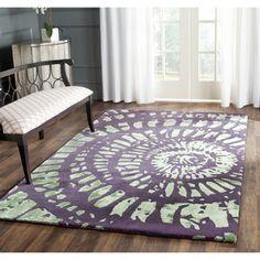 Shop for Safavieh Handmade Capri Modern Abstract Lavender/ Sage Wool Rug. Get…