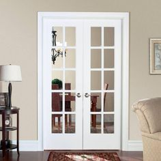 Amazing Masonite Smooth 10 Lite Solid Core Primed Pine Double Prehung Interior  French Door 468265   The Home Depot $209