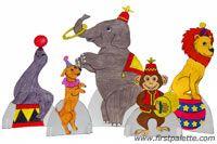 Como hacer personajes de circo con papel