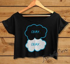 The Fault in Our Stars shirt women crop top Okay Okay crop tee OKE01JG on Etsy, $15.99