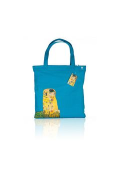 Gustav Klimt 'The Kiss' Handmade Cut-Out Canvas Tote by BlueBurton