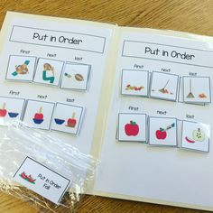 Fall Themed Sequencing File Folder Activities | The Autism Helper