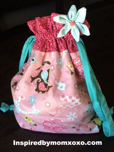 DIY cloth bag. Great for clothes, toys almost anything and just the right size for babes and toddles. These can be made with PUL fabric too.