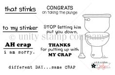 Unity Stamp Co. AH Crap stamp set - New from Wit & Wisdom by Joslyn Nielson
