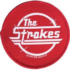 The Strokes Red Logo Rock Music Band Woven Applique Patch