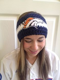 Hey, I found this really awesome Etsy listing at https://www.etsy.com/listing/201578839/navy-blue-denver-bronco-headband-ear