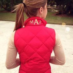 Vest and Monogram perfection