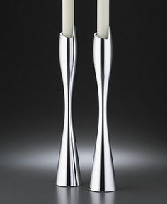 """Nambe """"Spiral"""" Candlestick Pair, 9"""" - online at Macy's"""