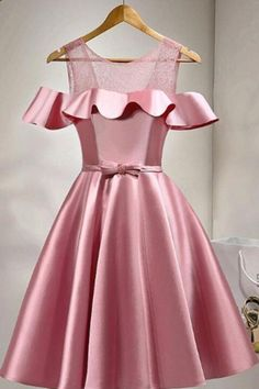 Prom Dresses Lace Homecoming Dress 2018 Pink Prom Dresses Short Homecoming Dress A-Line Homecoming Dress Homecoming Dresses 2018 Elegant Homecoming Dresses, Cute Dresses For Party, Dresses Elegant, A Line Prom Dresses, Prom Party Dresses, Tight Dresses, Evening Dresses, Short Dresses, Girls Dresses