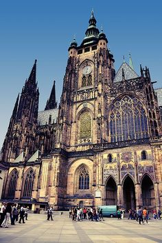 Prague Castle - it was such a hike to get here but so so worth it! A must see in Prague - Europe 2013