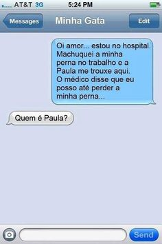 Que p... de Paula é essa amigo? ?? kkkkk