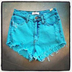Aqua! (Wish I had my 16yr old legs to wear these :-/)