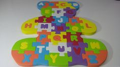 A B C puzzle Mixed Learning the Alphabet Puzzle-Surprise Toys and Play Doh