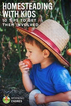 Homesteading with Kids: 10 Tips to Get Your Kids Involved Around the Homestead