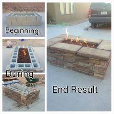 lynn matthews Easy To Build Outdoor Fire Table #easydeckstobuild