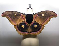 Ready to Ship - Polyphemus Moth Fairy Costume Wings, Moth Costume, Halloween