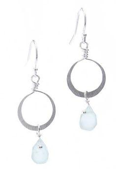 Small hammered loop with chalcedony Jewellery, Personalized Items, Jewelery, Jewelry Shop, Jewlery