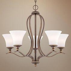 Quoizel Sophia Palladian Bronze 5-Light Chandelier