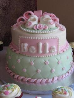 697 Best Baby Shower Cakes Girls Images In 2019 Grey Baby Shower