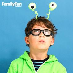 Super-Easy Pipe Cleaner Costumes. Kids Alien ...  sc 1 st  Pinterest & Coolest Homemade Alien Costumes | Halloween | Pinterest | Lame ...