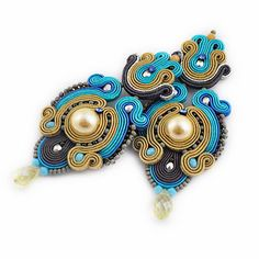 Shop for soutache on Etsy, the place to express your creativity through the buying and selling of handmade and vintage goods. Soutache Necklace, Tassel Earrings, Drop Earrings, Statement Jewelry, Boho Jewelry, Fashion Jewelry, Shibori, Beaded Embroidery, Jewelry Making