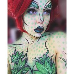 Poison Ivy  So glad you guys liked this look! She was so much fun to paint.  All product details listed in last post!
