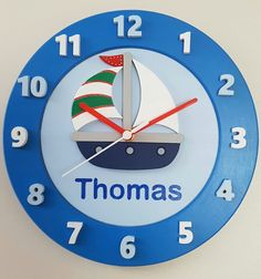 Sailing boat clock by Jigsaw Wooden Products