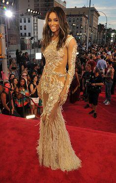 Ciara in Givenchy Couture - #MTV #VMAS 2013 #RedCarpet