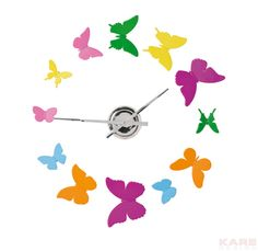 Wall Clock Sticky Butterfly by KARE Design #KARE #KAREDesign #Clock