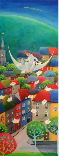 Frederic sending love letters to the world by Iwona Lifsches