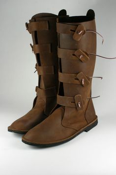 OSEBERG Wikinger Schuhe, mittelalterliche Stiefel, kurze Lederstiefel, Larp.