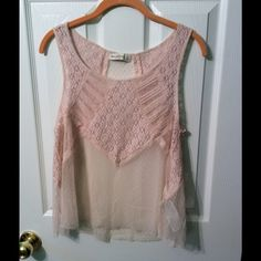 Pink lace blouse Pink lace Abercrombie & Fitch blouse size L. Never worn Abercrombie & Fitch Tops Blouses