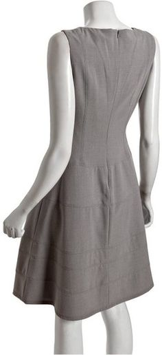 Shop Women's Calvin Klein Dresses on Lyst. Track over 4178 Calvin Klein Dresses for stock and sale updates. Calvin Klein Dress, Gray Dress, Flare Dress, High Neck Dress, Dresses For Work, Clothes, Women, Fashion, Dapper Clothing