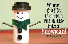 Make Miniature Snowmen from Old Pill Bottles - Earth911.com