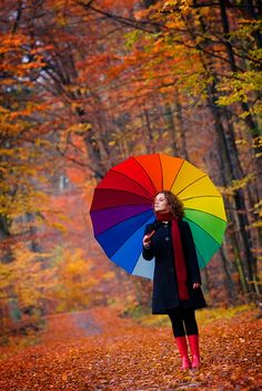 The outfit and the location for this picture! Just minus the rainbow umbrella!