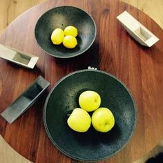 Cement bowls by Czech brand Gravelli Cement, Bowls, Design Inspiration, Breakfast, Interior, Food, Serving Bowls, Morning Coffee, Indoor