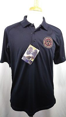 5.11 Tactical Series Mens Golf Polo shirt FBI Logo Navy blue New with tag medium