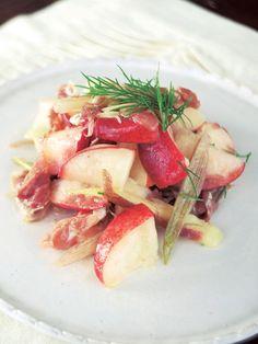 Recipe:みょうがと生ハム、桃のサラダ/意外な組み合わせの共通点はピンク色 #レシピ #elleatable